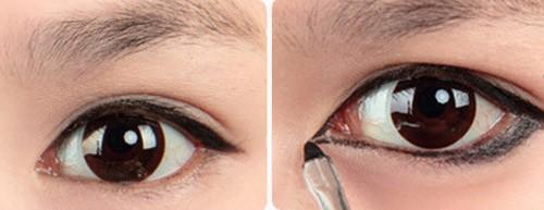 5 phút cho đôi mắt nhiều da chùng đẹp long lanh 6