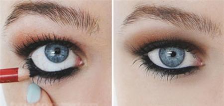 """""""Biến hóa"""" đôi mắt to tròn với cách kẻ mắt 1 mí cực đơn giản4"""