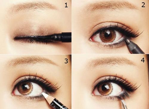 Cách làm mắt to ra tự nhiên với phương pháp kẻ mắt cún