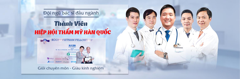 Đội ngũ bác sĩ cắt mí mắt giỏi