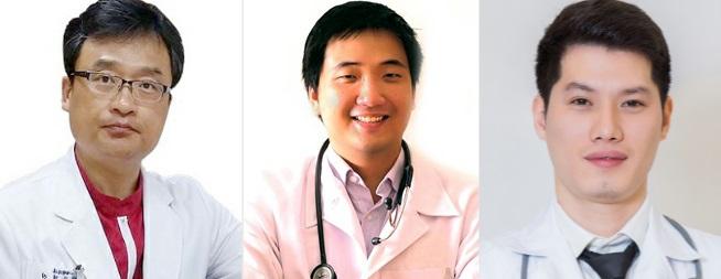 Đội ngũ các bác sĩ thực hiện cắt mỡ mí mắt trên tại Kangnam