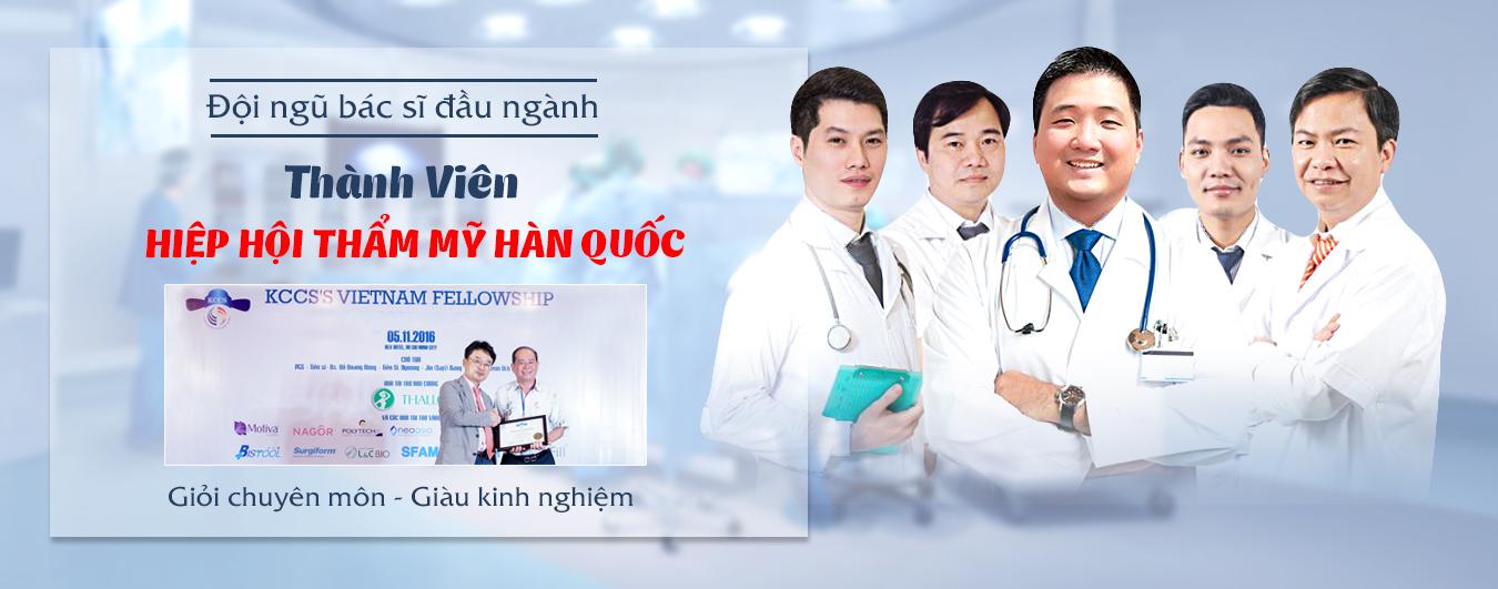 Đội ngũ bác sĩ - Thành viên Hiệp Hội thẩm mỹ Hàn Quốc ( KCCS)