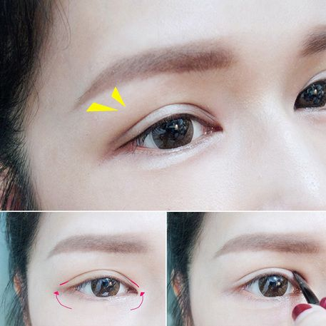 Trang điểm là cách biến mắt 1 mí thành 2 mí đơn giản nhất