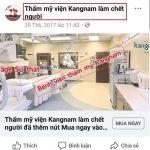 Tin đồn bệnh viện thẩm mỹ viện kangnam làm chết người