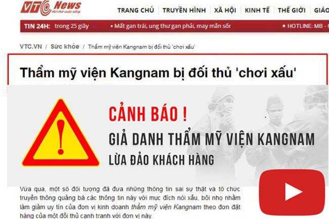 Video thẩm mỹ viện kangnam biên hòa đồng nai mạo danh Kangnam